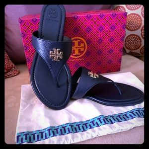 Tory Burch Jolie Navy Blue Sandals